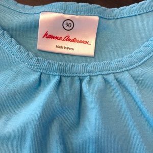 EUC Hanna Andersson blue top